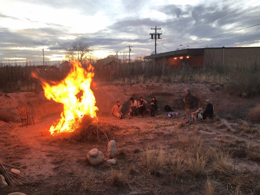 Winter Solstice bonfire this past December.